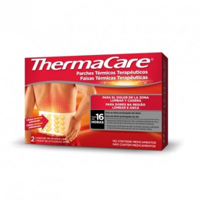 THERMACARE ZONA LUMBAR Y CADERA 2 PARCHES TERMIC