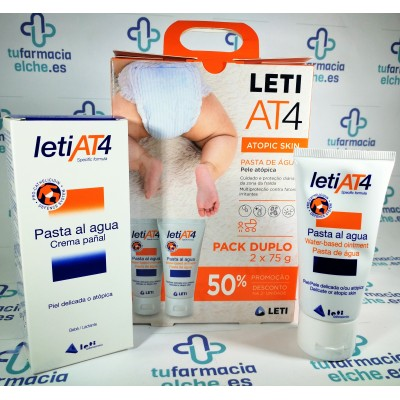 LETI AT4 PASTA AL AGUA PACK 2 X 75GR