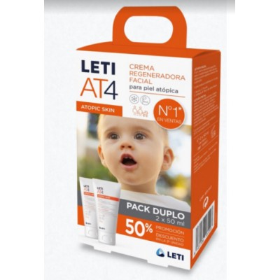 LETI AT4 CREMA FACIAL PARA PIEL ATOPICA PACK 2 X