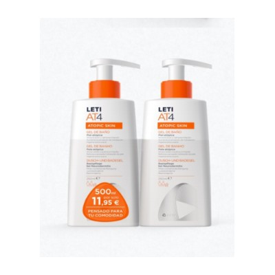 LETI AT4 GEL DE BAÑO DUPLO 250ML