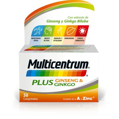 MULTICENTRUM PLUS GINSENG & GINKO 30 COMPRIMIDOS